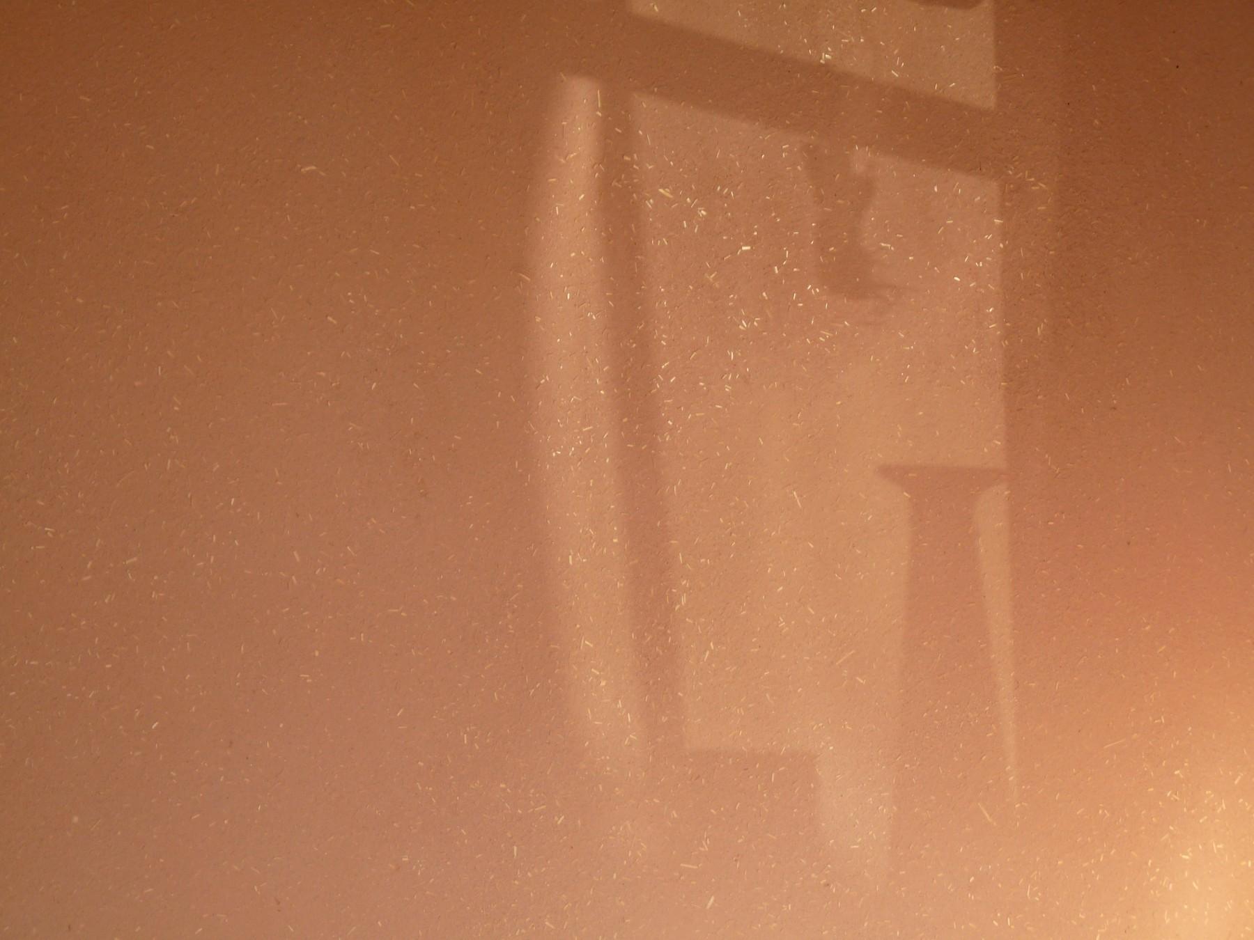 Lehm-Edelputz rot mit Schattenspiel